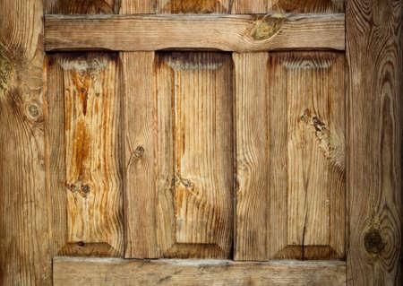 fanlight: oold wooden door lacquered yellow retro fragment