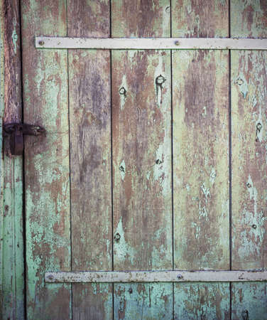 wooden color: Old wood background door on the street