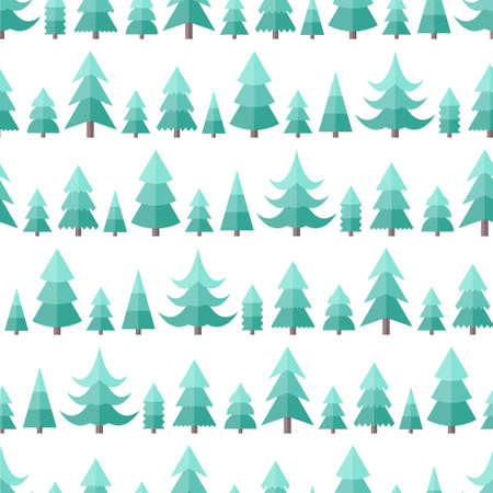 fir trees: Flat seamless pattern with Christmas trees. Abstract texture with trees. Fir forest. Christmas forest seamless