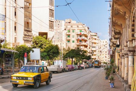 alexandria egypt: One of the streets of Alexandria town.