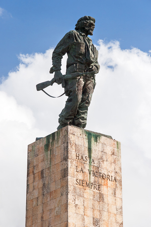 Ernesto Che Guevara. Bronze statue in Plaza de la Revolution, near Museum. The national heros ash is buried here under the monument with the remains of other revolutionaries. Santa Clara, Cuba.