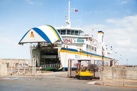 operates: Ferry crosses the Gozo channel in Cirkewwa, Malta. The Gozo Channel Line operates the crossing between the two islands of Malta and Gozo. Editorial