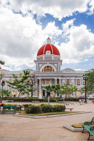 center hall colonial: City Hall in old town Cienfuegos. UNESCO World Heritage Site. Cuba.