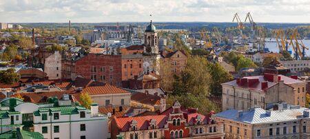 vyborg: Vyborg (Viipuri), panorama view in sunny autumn day. Russia.