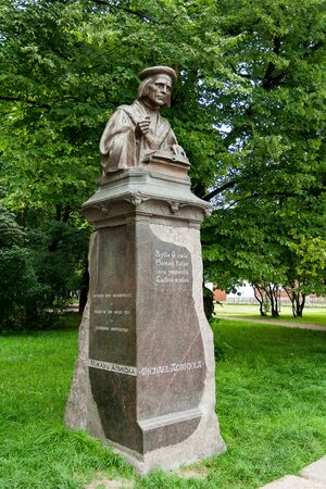 vyborg: Michael Agricola monument in Vyborg. Russia.