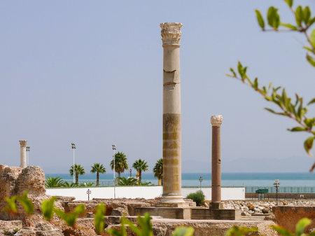 Carthago (Carthage), ruins of capital city of the ancient Carthaginian civilization. UNESCO World Heritage Site. Tunis, Tunisia. Editorial