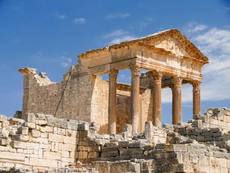 Dougga, Roman Ruins. Stock Photo - 55110480