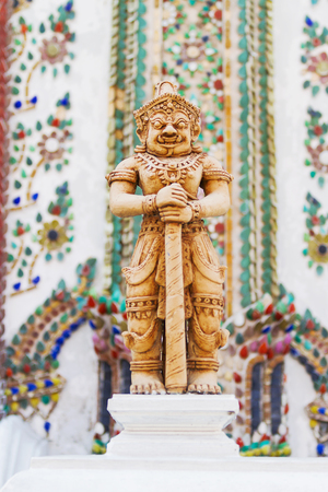 mythical: Sculpture in Royal Palace, Bangkok, Thailand. Wat Phra Keo. Architecture detail - statue of mythical creature. Stock Photo