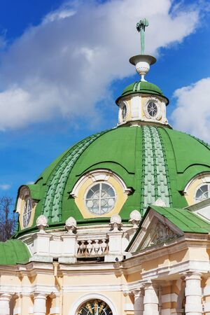 kuskovo: MOSCOW, RUSSIA - April 17, 2015: Roof of The Grotto in Kuskovo park , by the architect F. Argunov. Kuskovo manor near Moscow.