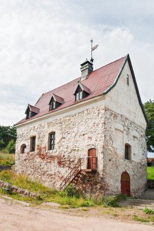 Burghers farmstead, medieval landmark in Viborg, Russia.
