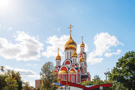 The Cathedral of St. George the victorious. Moscow region, Odintsovo town, Russia.