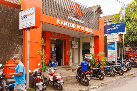 UBUD, INDONESIA - January 31, 2013. Post office (Kantor pos) in Ubud.