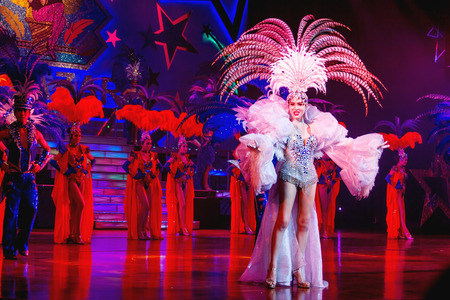 PATTAYA, THAILAND - February 06, 2011. Spectacular performance in the famous show of transvestites Alcazar Cabaret. Editorial