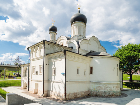 Church of the conception of St. Anne in Zaryadye landscape urban park. Moscow, Russia. Reklamní fotografie