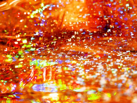 Bright red background. Shiny and sparkling holographic rainbow backdrop. Stock fotó