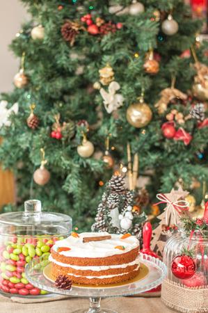 Christmas carrot baked cake