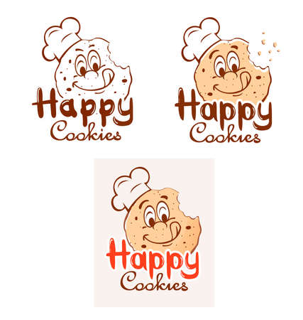 chocolate cookie: Smiling cookies Illustration
