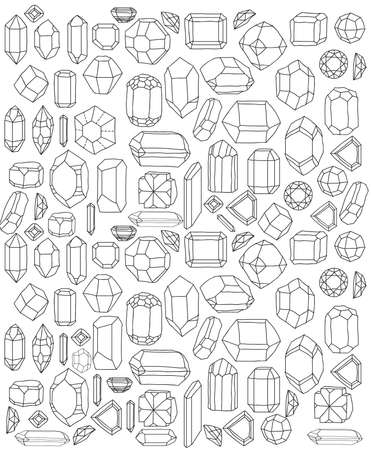 Diamonds handsketch Stock Vector - 22181858
