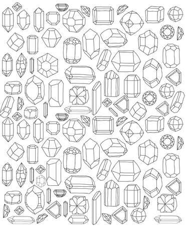 Diamonds handsketch Stock Vector - 22181858