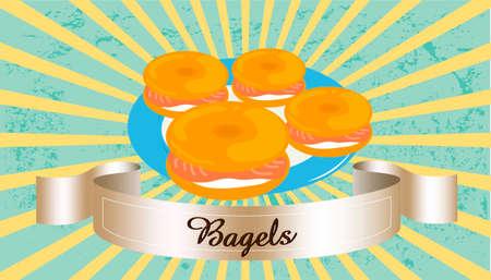 bagel: bagel roomkaas