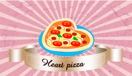 heart pizza Çizim