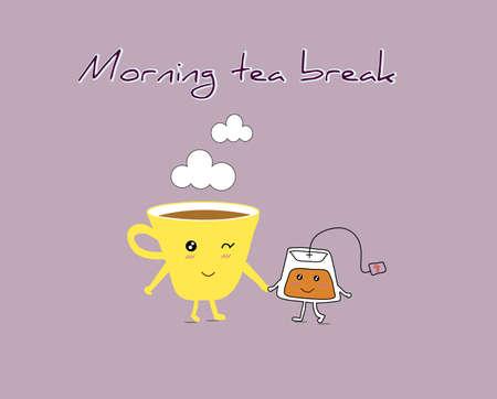 box of matches: Tea break Illustration