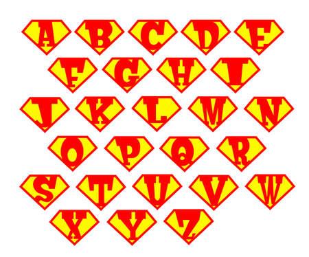 Alphabet  superman Vector