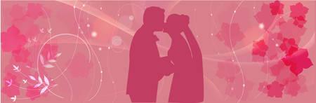Wedding pink background