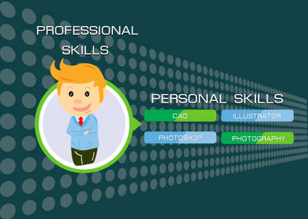 Professional skills info graphic  Çizim