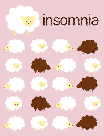 insomnia: Insomnia sheep Illustration