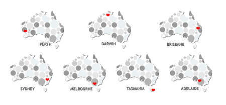 melbourne australia: Australia map