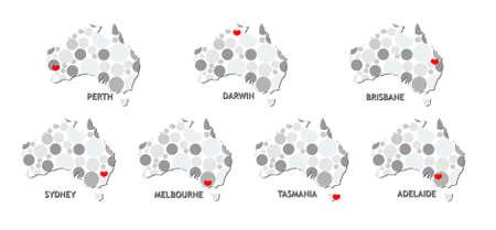 australian outback: Mapa de Australia