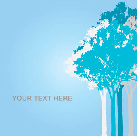 Blue trees background