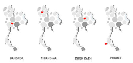 Thai map Иллюстрация