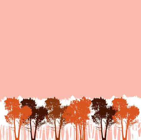 Pink trees background Çizim
