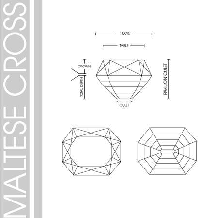 Diamonds shape Maltese cross