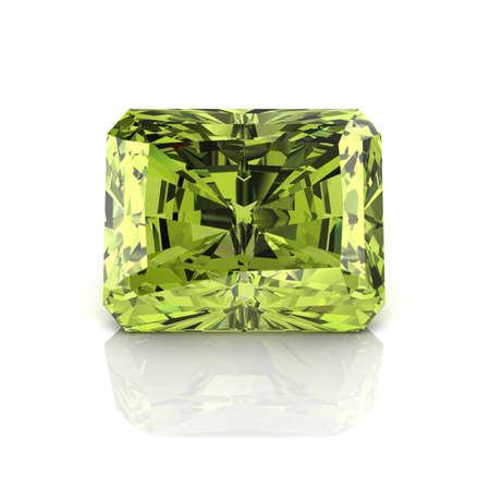 green tourmaline: Peridot Emerald cutting  Stock Photo