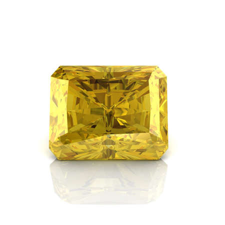 Citrine Emerald cutting