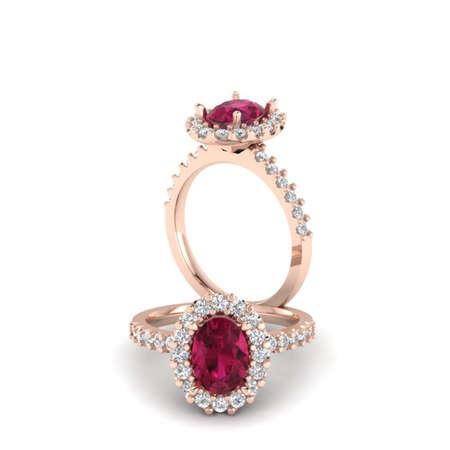 Ruby Oval ring Stok Fotoğraf - 29468988