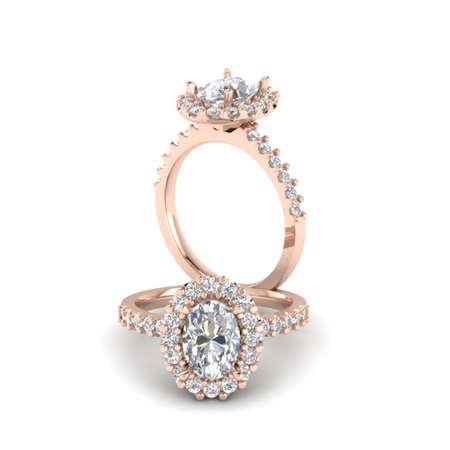 Diamond Rose Gold ring Stok Fotoğraf - 29468990