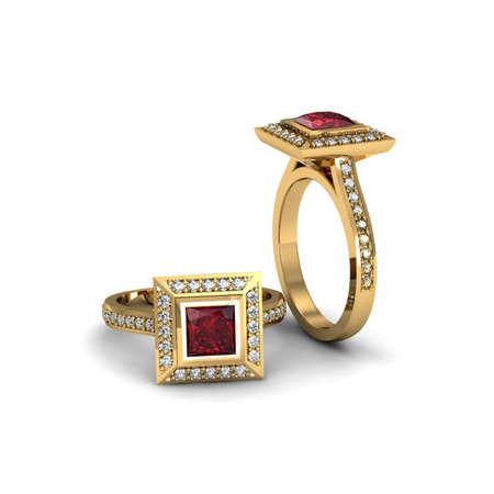 Ruby princess ring Stok Fotoğraf - 29468999