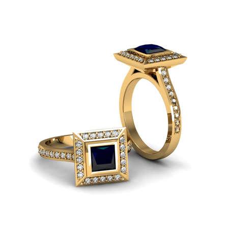 Blue Sapphire ring Stok Fotoğraf - 29469000