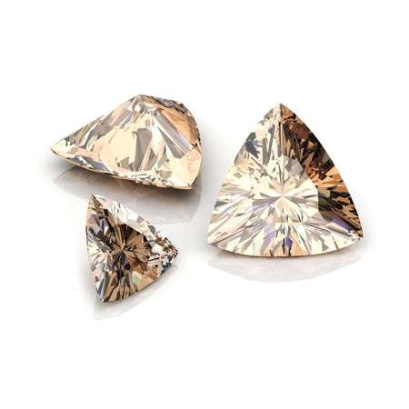 Champagne Diamonds Trilliant Stok Fotoğraf - 30170038