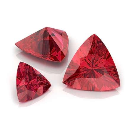 trillion: Red Garnet Trilliant
