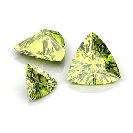 Green sapphire Trilliant Stok Fotoğraf - 30170067