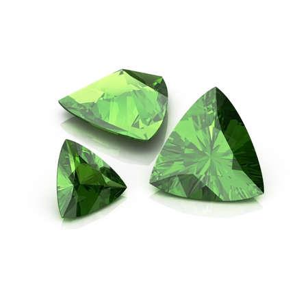 trilliant: Green Tourmaline Trilliant