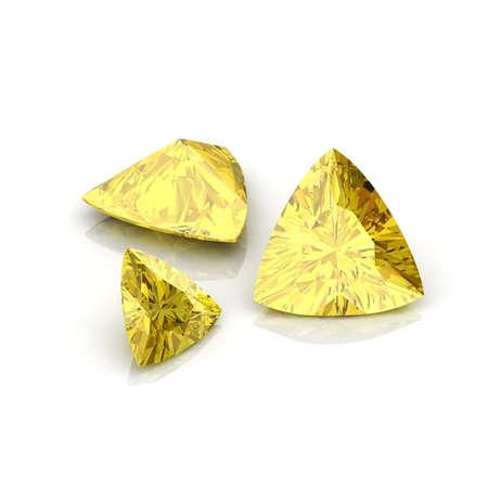 trillion: Yellow Citrine Trilliant