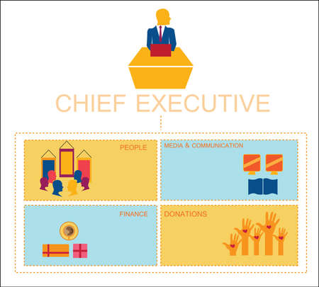 Chief executive info graphic Stok Fotoğraf - 30181153