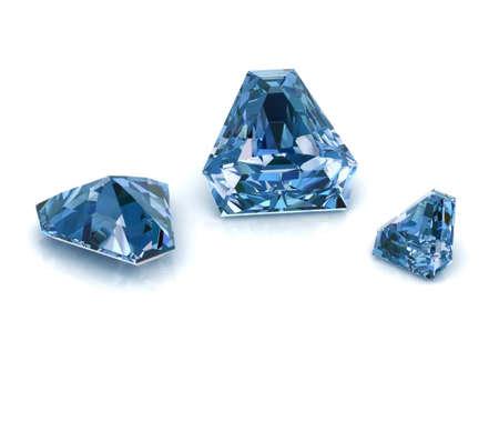 Blue diamonds calf cutting Stok Fotoğraf - 30724832
