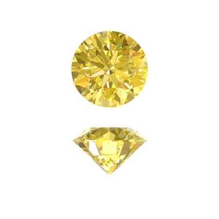 sapphire: gemas del zafiro amarillo Foto de archivo
